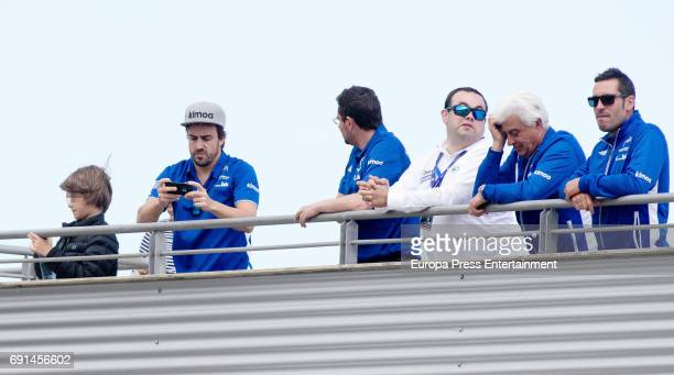 Spanish F1 driver Fernando Alonso attends the Spanish Kart Racing at Fernando Alonso circuit on May 6 2017 in Asturias Spain