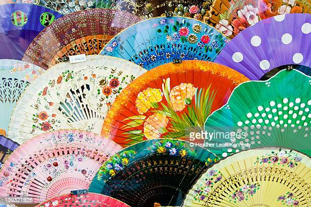 spanish fans - hand fan stock pictures, royalty-free photos & images