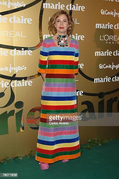 Spanish fashion designer Agatha Ruiz de la Prada attends the 5th Marie Claire Magazine Awards at the French Embassy November 22 2007 in Madrid Spain