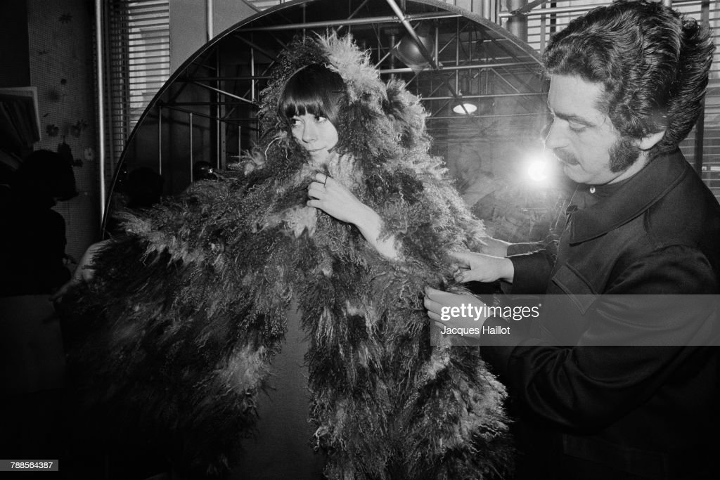 Spanish fashion designer Paco Rabanne presents his collection of furs.