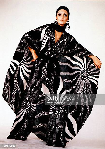 Spanish Fashion in 1970's a highfashion model of Lino Madrid Spain