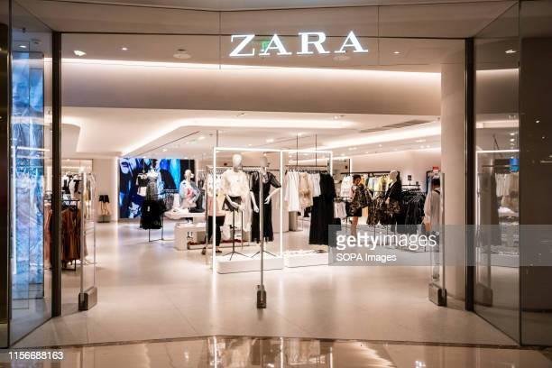 Spanish fast fashion retailer Zara store and logo seen in Shanghai