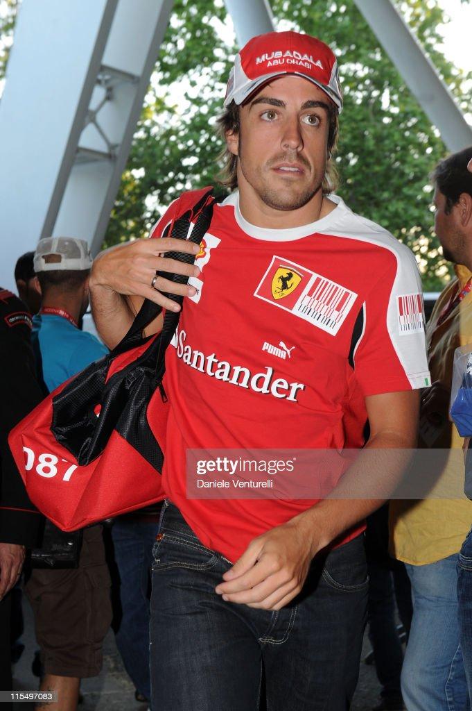 ACCESS** Spanish Ferrari driver Fernando Alonso attend the XIX Partita Del Cuore charity football game at on May 25, 2010 in Modena, Italy.
