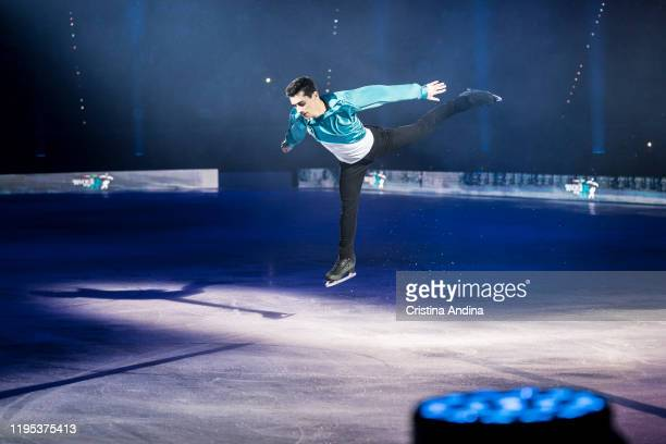 Spanish figure skater Javier Fernandez performs in Revolution on Ice at Coliseum A Coruña on December 21 2019 in A Coruna Spain