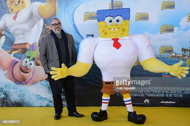 Spanish film director Alex de la Iglesia attends the 'Bob Esponja' Premiere at Kinepolis Cinema on January 31 2015 in Madrid Spain
