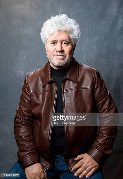 Spanish film director, screenwriter, and producer Pedro Almodovar is photographed for Los Angeles Times on October 6, 2016 in Los Angeles,...