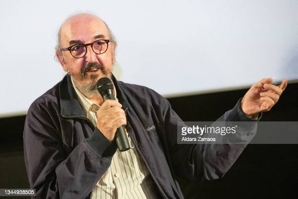 Spanish film producer Jaume Roures speaks in the announcement that his film 'El buen patron' is the candidate to Oscars 2022 on October 05, 2021 in...