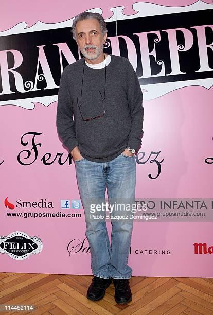 Spanish Films Director Fernando Trueba attends 'La Gran Depresion' premiere at Infanta Isabel Theatre on May 19, 2011 in Madrid, Spain.