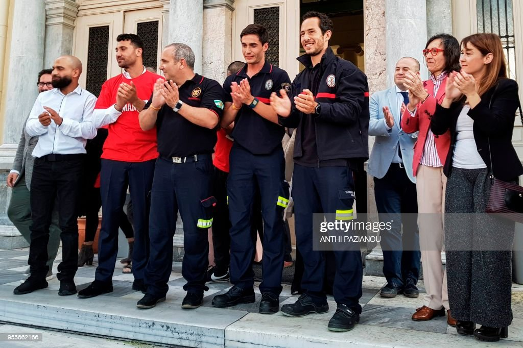 GREECE-SPAIN-EUROPE-COURT-MIGRANTS-FIREFIGHTERS : News Photo