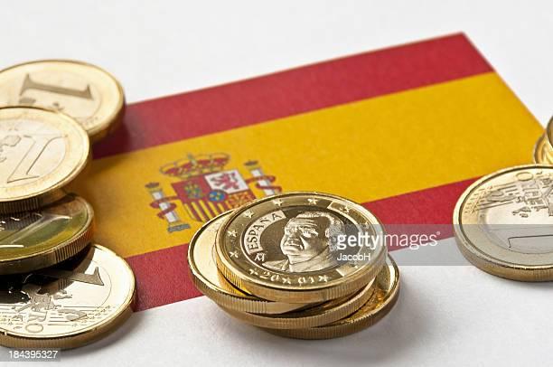 Spanish Flag and Euros