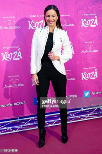 Spanish Flamenco dancer Cecilia Gomez attends the Cirque Du Soleil 'Kooza' premiere on October 29 2019 in Madrid Spain