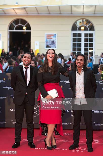 Spanish flamenco dancer Farruquito singer Marina Heredia and Manolo Sanlucar attend Rumbos premiere at the Cervantes Theater during the 19th Malaga...