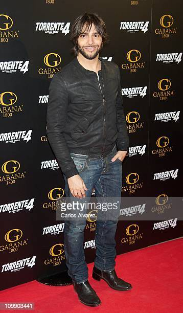 """Spanish flamenco dancer Joaquin Cortes attends """"Torrente 4"""" premiere at the Capitol cinema on March 9, 2011 in Madrid, Spain."""