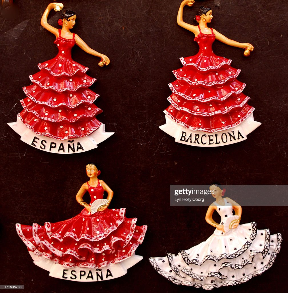 Spanish flamenco dancer ornaments : Stock Photo
