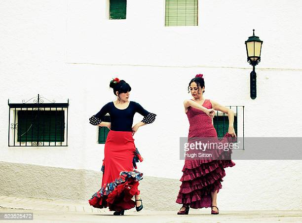 Spanish Flamenco Dancers. Spain.