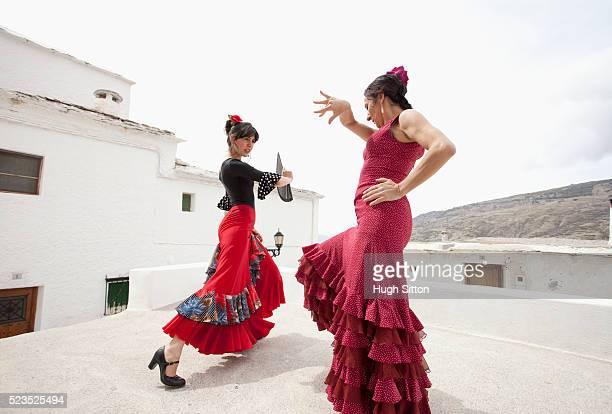 Spanish Flamenco Dancers. Spain.