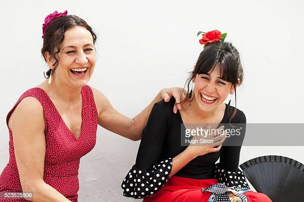 spanish flamenco dancers. spain. - hugh sitton stockfoto's en -beelden