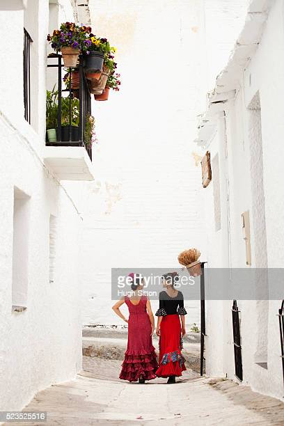 spanish flamenco dancers. spain. - hugh sitton stock pictures, royalty-free photos & images