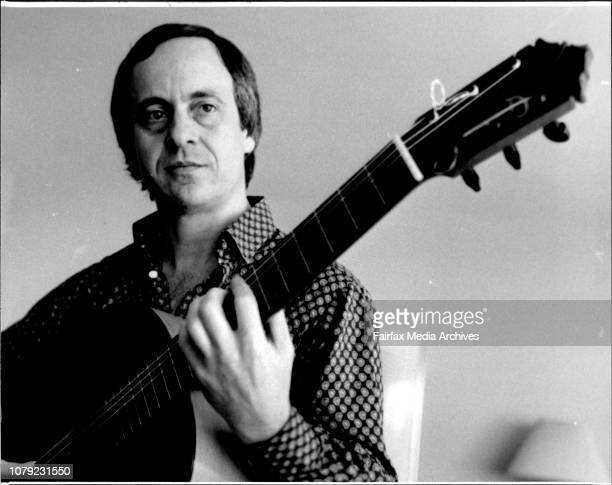 Spanish flamenco guitarist Paco Pena at his Southern Cross Hotel suite January 14 1987