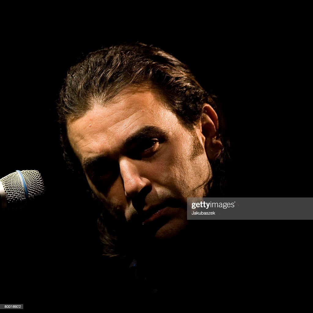 Spanish flamenco singer David Lagos performs live during a concert