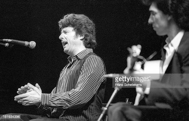 Spanish flamenco singer Enrique Morente performs live on stage with Montoyita at Paradiso in Amsterdam, Netherlands on 18th March 1987.