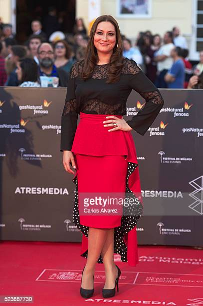 Spanish flamenco singer Marina Heredia attends Rumbos premiere at the Cervantes Theater during the 19th Malaga Film Festival on April 24 2016 in...