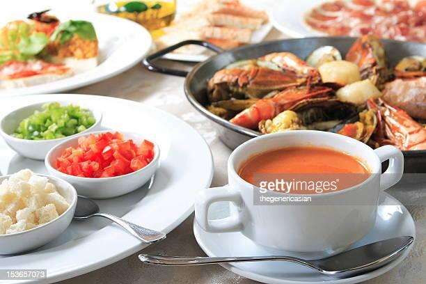Spanish food spread