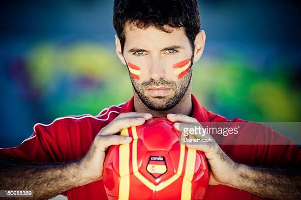 spanish football fan - football in spain stockfoto's en -beelden