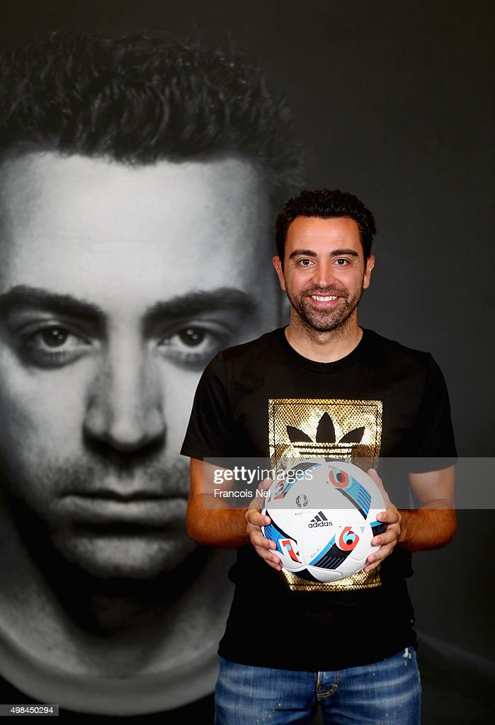 Xavi opens adidas zone in the new flagship Go-Sports Store in the Mall of Emirates Dubai : News Photo