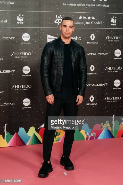 Spanish football player and actor Jesus Mosquera attends 'Los40 music awards 2019' photocall at Wizink Center on November 08 2019 in Madrid Spain