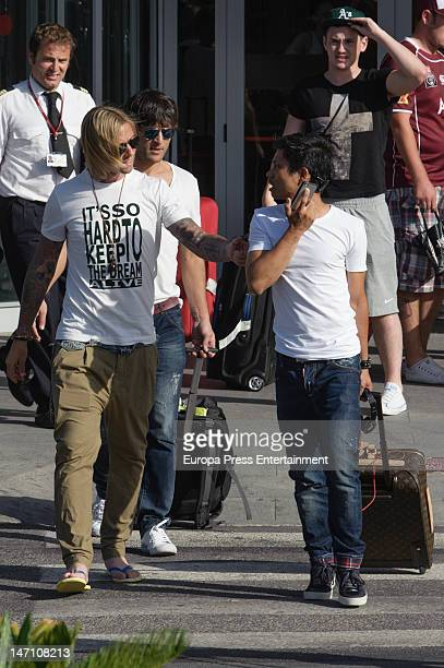 Spanish football player Guti is seen on June 24 2012 in Ibiza Spain