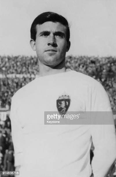 Spanish footballer Carlos Lapetra of Real Zaragoza, circa 1965.