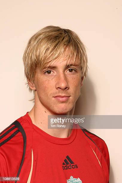 Spanish footballer Fernando Torres of Liverpool FC at the Club's Melwood training ground in West Derby Liverpool November 2009