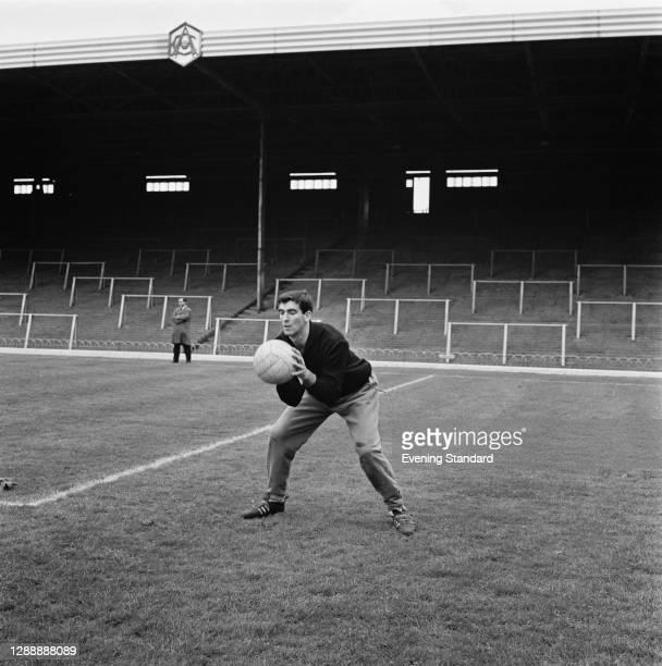 Spanish footballer José Angel Iribar training at Arsenal's Highbury Stadium, North London, UK, 24th May 1967.