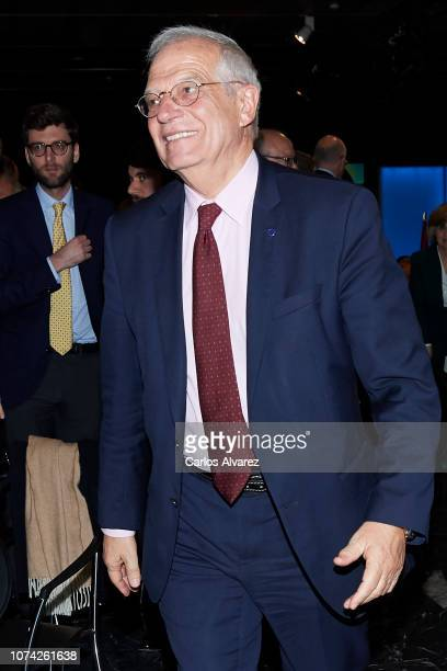 Spanish Foreign Minister Josep Borrell attends '40 Años de Diplomacia en Democracia Una Historia de Exito' exhibition at Casa de America on November...