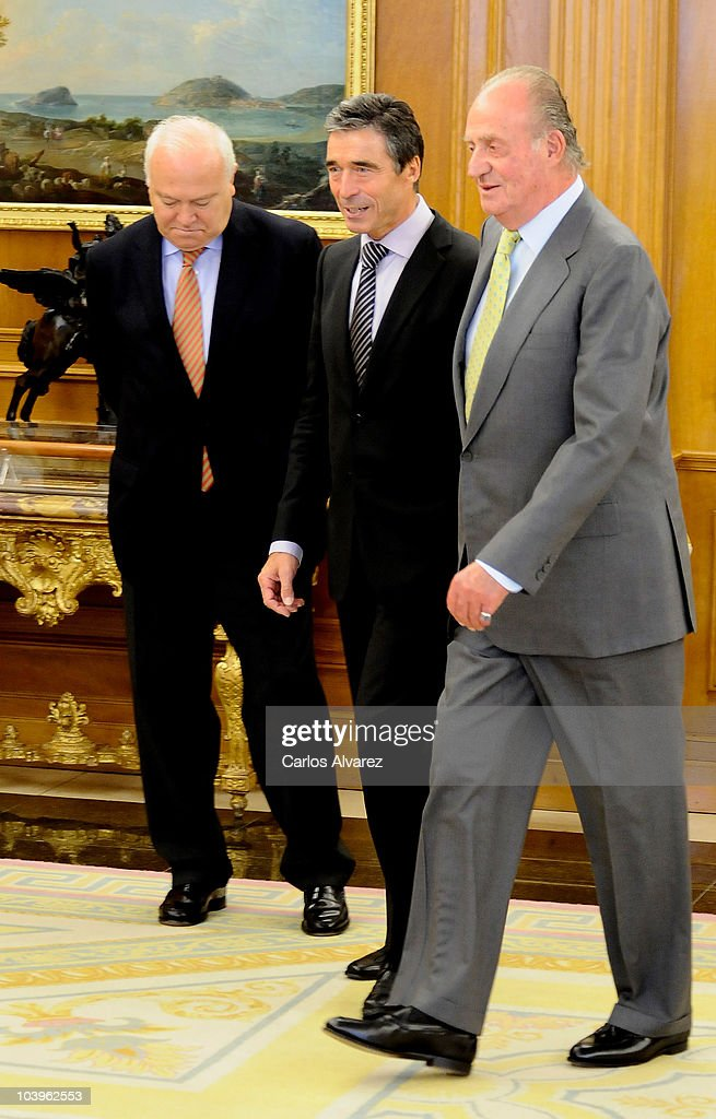 Spanish King Juan Carlos Meets Mr Anders Fogh Rasmussen