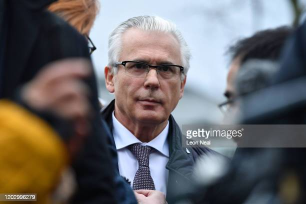 Spanish former judge Baltasar Garzon, part of the defence team of WikiLeaks founder Julian Assange, speaks to the media outside Woolwich Crown Court...