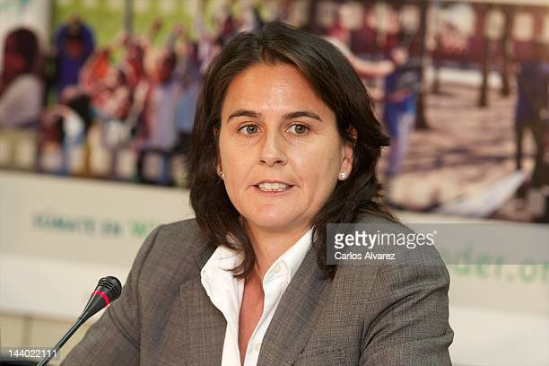 Spanish former tennis player Conchita Martinez presents Luces Para Aprender new project at OAI Madrid office on May 8 2012 in Madrid Spain