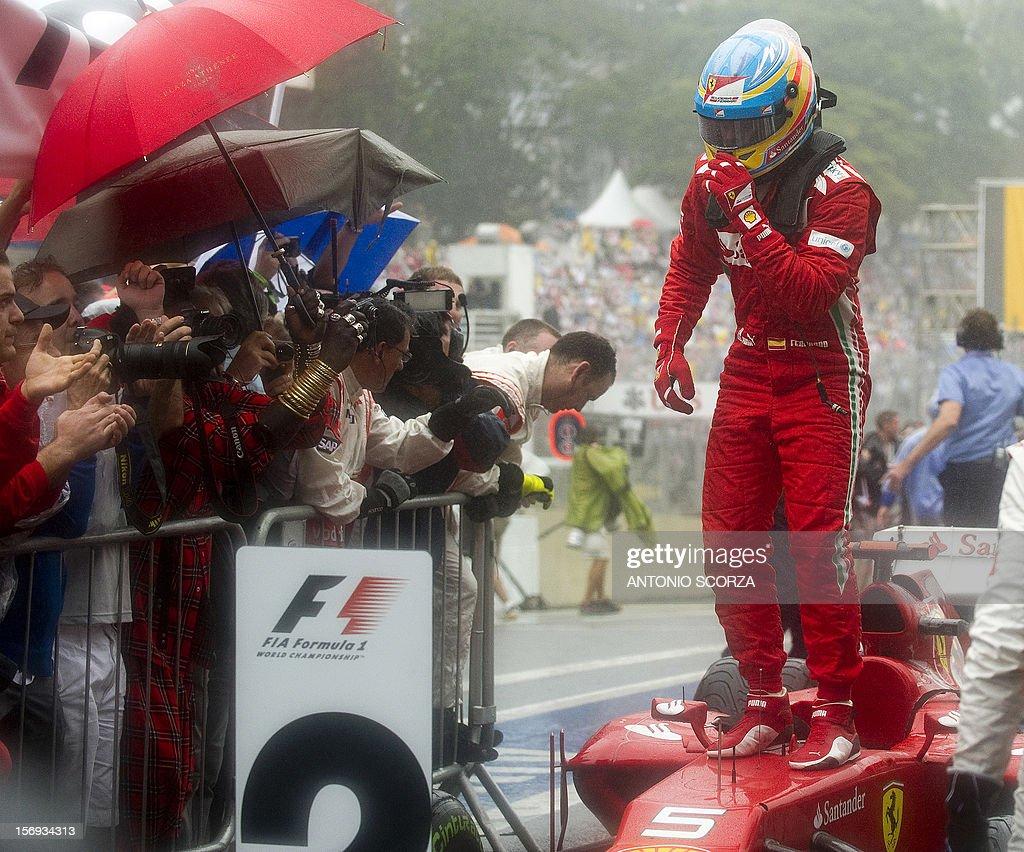 AUTO-PRIX-F1-BRAZIL-ALONSO : News Photo