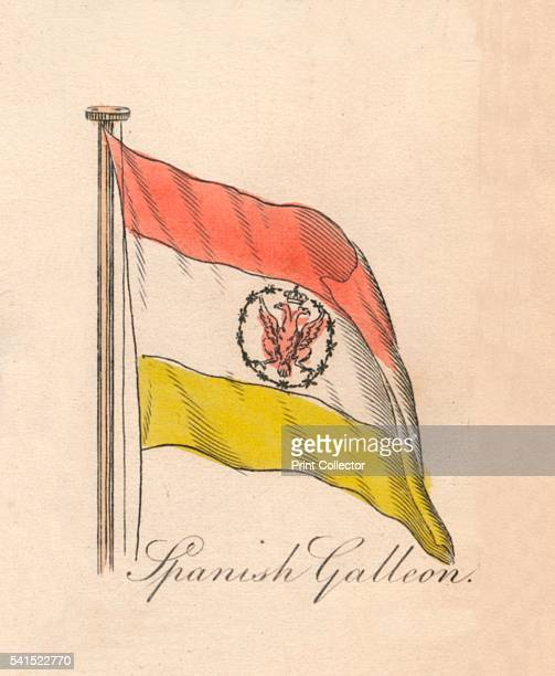 Spanish Galleon' 1838 From A Display of the Naval Flags of All Nations Collected from the Best Authorities [Fisher Son Co London 1838] Artist Unknown