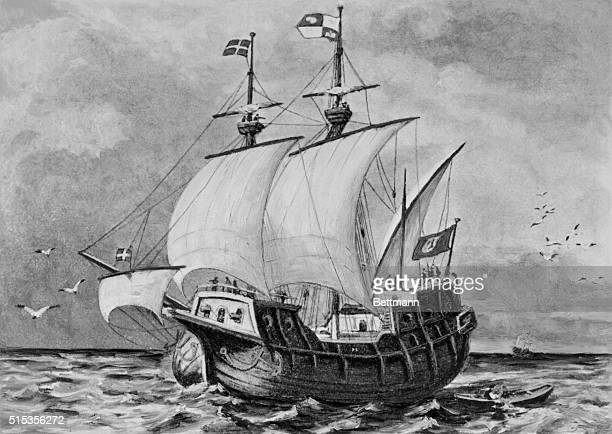 A Spanish galleon at the time when European travellers searched for treasured across the seas