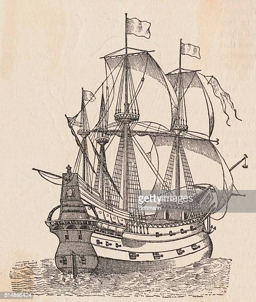A Spanish galleon of the 15th century