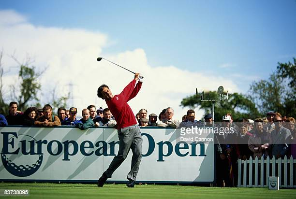 Spanish golfer Seve Ballesteros competing in the European Golf Open at East Sussex National Golf Course Uckfield 1994