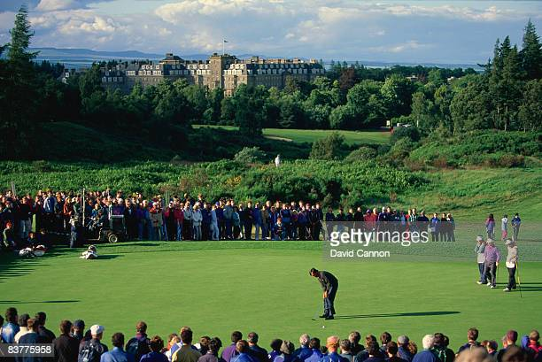 Spanish golfer Seve Ballesteros competing in the Scottish Open at the Gleneagles Hotel, Scotland, 1991.