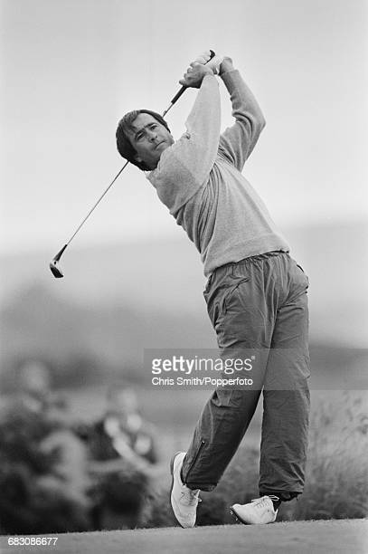 Spanish golfer Seve Ballesteros pictured in action during competition to miss the cut in the 1990 Open Championship on the Old Course at St Andrews...