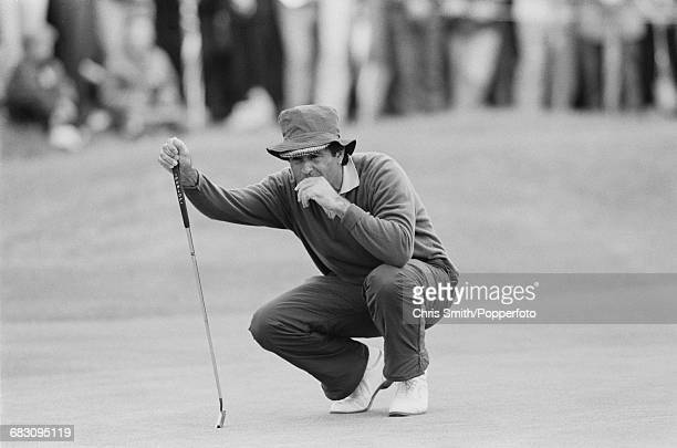 Spanish golfer Seve Ballesteros pictured in action during competition to finish in joint 9th place in the 1991 Open Championship at Royal Birkdale...