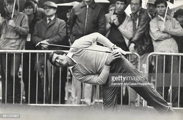 Spanish golfer Seve Ballesteros playing at Wentworth in January 1979