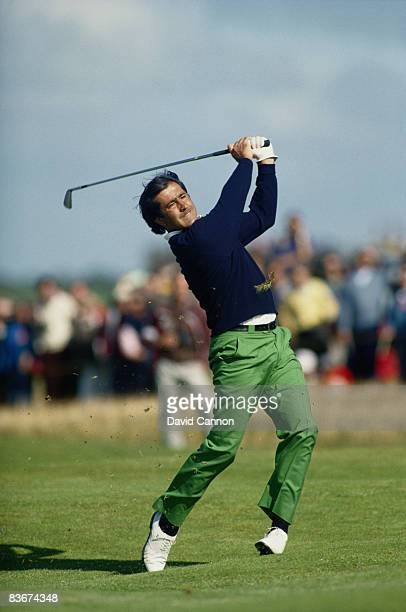 Spanish golfer Severiano Ballesteros competing at the Open Championship at the Royal Lytham and St Annes Golf Club Lancashire July 1988