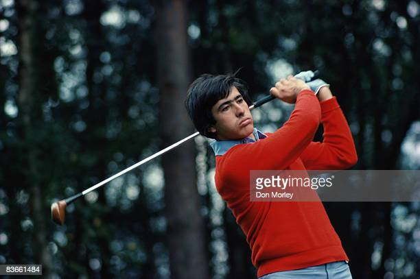 Spanish golfer Severiano Ballesteros competing in the World Match Play Championship at Wentworth Club Virginia Water Surrey 1976