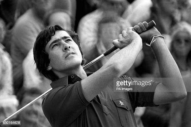 Spanish golfer Severiano Ballesteros in action during the last round of the Open golf championship at Royal Birkdale
